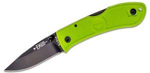 KA-BAR 4072ZG Mini Dozier Folding Hunter 2-1/4 inch Black Plain Blade, Zombie Green Handles