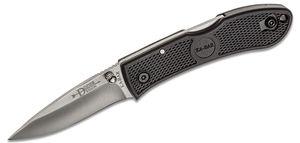 KA-BAR 4072 Mini Dozier Folding Hunter 2-1/4 inch Satin Plain Blade, Black