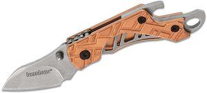 Kershaw 1025CU Cinder Copper Keychain Folding Knife 1.4 inch Stonewashed Blade, Copper Handles