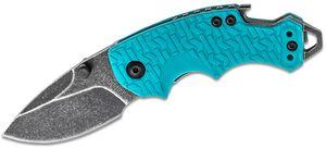 Kershaw 8700TEALBW Shuffle Multi-Function Folding Knife 2.4 inch Blackwash Plain Blade, Teal GFN Handles