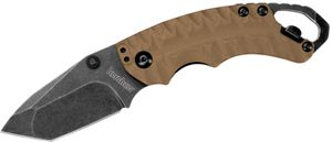 Kershaw 8750TANBW Shuffle II Multi- Function Folding Knife 2.25 inch Blackwash Plain Blade, Tan GFN Handles