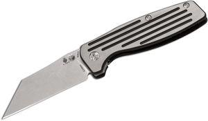 Kizer Cutlery Ki3480 Dirk Pinkerton Rogue Folding Knife 3.05 inch S35VN Wharncliffe Blade, Milled Titanium Handles