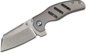 Kizer Cutlery Ki4488 Sheepdog Knives Chris Conaway c01c Flipper 3.3 inch S35VN Sheepsfoot Blade, Titanium Handles
