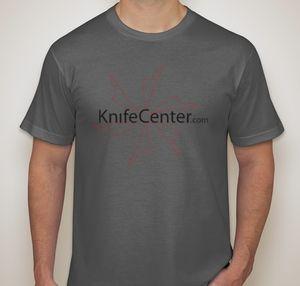 KnifeCenter.com American Apparel Small Jersey T-shirt Asphalt Gray w/ Front Logo