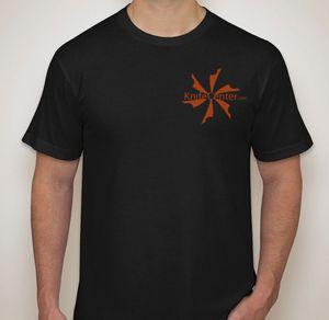 KnifeCenter.com American Apparel Large Black Jersey T-shirt Double Logo
