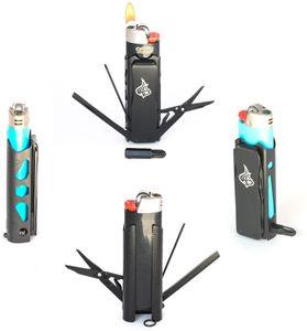 LighterBro Pro Lighter Multi-Tool Sleeve, Stealth Black