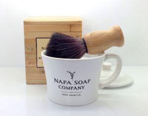 Napa Soap Company Ceramic Shaving Soap Gift Set, Vintner's Blend