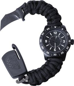 Outdoor Edge 30th Anniversary Para-Claw CQD Watch, Medium, Stainless Steel, Black