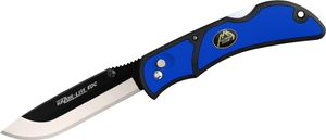 Outdoor Edge Razor-Lite EDC Folding Hunter 3.5 inch Replaceable Blade, Blue Rubberized TPR Handles
