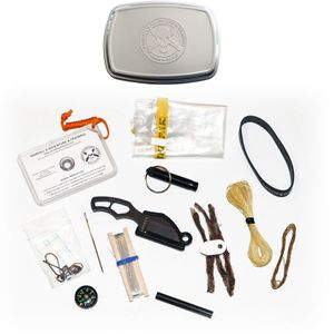 ESEE Knives PINCH-KIT Mini Survival Kit with Gibson Pinch Knife in Embossed Tin