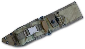 ESEE Knives ESEE-6-MBSP-K MOLLE Back, Molded Sheath and Pouch Combo, Khaki, Assembled