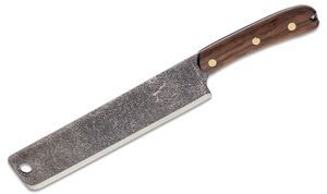 ESEE Knives Expat Libertariat Machete 9 inch Condor Classic Finish Blade, Walnut Handles, Tan Canvas Sheath