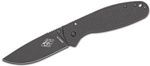 ESEE Knives Expat MEDELLIN Folding Knife 3.5 inch Black Plain Blade, Black FRN and Stainless Steel Handles