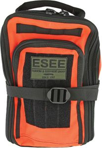 ESEE Advanced Survival Kit with Special Edition ESEE-4 Knife and Izula Gear Orange Cordura Survival Bag