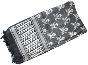 Red Rock Outdoor Gear Shemagh Head Wrap, Black/White Jolly Roger