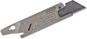 Todd Rexford Knives RUT Rexford Utility Tool V3 Razor Blade Multi-Tool - KnifeCenter Exclusive Maze Milled Titanium Handles
