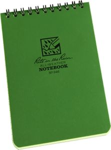Rite in the Rain Universal Polydura Tactical Pocket Notebook, 4 inch x 6 inch, Green