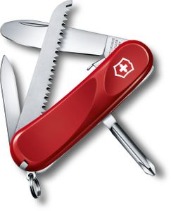 Victorinox Swiss Army Junior 9 Multi-Tool, Red, 3.34 inch Closed