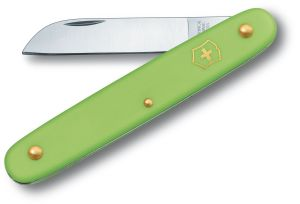Victorinox Swiss Army 4 inch Floral Knife, Green