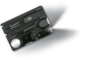 Victorinox Swiss Army SwissCard Lite Multi-Tool with White LED Light, Translucent Onyx (Old Sku 53333)