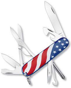 Victorinox Swiss Army Super Tinker Multi-Tool, US Flag, 3.58 inch Closed