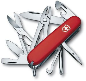 Victorinox Swiss Army Deluxe Tinker Multi-Tool, Red, 3.58 inch Closed (Old Sku 53481)