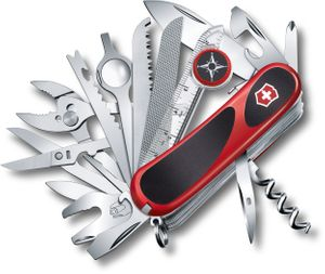 Victorinox Swiss Army EvoGrip S54 Multi-Tool 3-1/4 inch Red and Black Handles (2.5393.SCUS2)