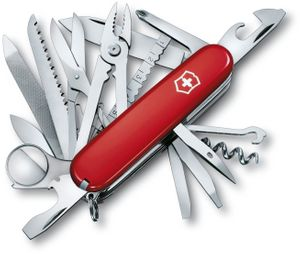 Victorinox Swiss Army SwissChamp Multi-Tool, Red, 3.58 inch Closed (Old Sku 53501)