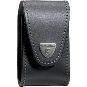 Victorinox Swiss Army Pocket Champ XLT Pouch- Black Leather