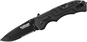 Schrade Professionals 1st Response 3.5 inch Assisted Black Drop Point Blade Rescue Knife