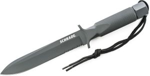Schrade SCHF1 Extreme Hollow Handle Survival Special Forces 7.5 inch Combo Blade, Nylon Sheath