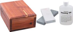 Arkansas Sharpener Deluxe Honing Kit with Wood Storage Box