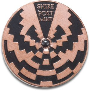 Shire Post Mint Custom Copper Strobe Spinning Top