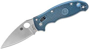 Spyderco Manix 2 Lightweight Folding Knife 3.37 inch Satin Plain S110V Blade, Dark Blue FRN Handles