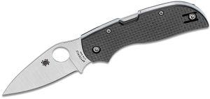 Spyderco Chaparral Folding Knife 2-13/16 inch CTS-XHP Plain Blade, Carbon Fiber Handles