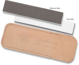 Spyderco Double Stuff Sharpening Pocket Stone, Fine and Medium Grits