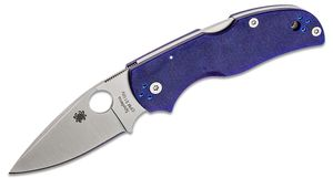 Spyderco Native 5 Folding Knife 2.95 inch S110V Satin Plain Blade, Blue/Purple (Blurple) G10 Handles