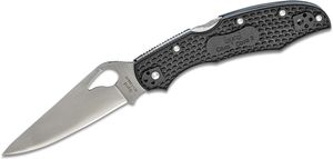 Spyderco Byrd BY03PBK2 Cara Cara 2 Folding Knife 3.75 inch Plain Flat-Ground Blade, Black FRN Handles