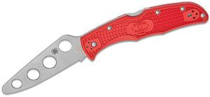 Spyderco Endura 4 Trainer Folding Knife 3.563 inch Unsharpened Blade, Red FRN Handles