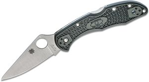 Spyderco Delica 4 Folding Knife 2-7/8 inch ZDP-189 Satin Plain Blade, British Racing Green FRN Handles