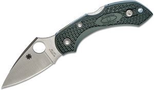 Spyderco Dragonfly 2 Folding Knife 2-5/16 inch ZDP189 Plain Blade, Dark Green FRN Handles