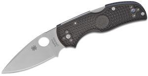 Spyderco Native 5 Lightweight Folding Knife 3 inch S30V Satin Plain Blade, Black FRN Handles