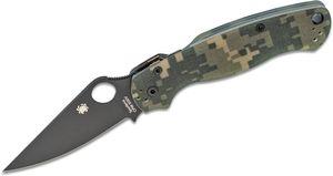 Spyderco Paramilitary 2 Folding Knife 3-7/16 inch S30V Black Plain Blade, Digital Camo Handles