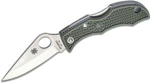Spyderco Ladybug 3 Key Ring Knife 1.938 inch VG10 Plain Blade, Foliage Green FRN Handles