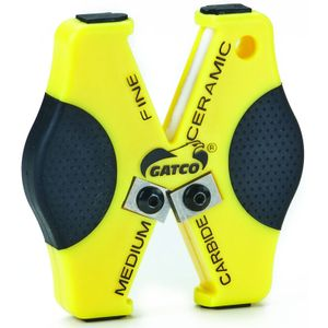 GATCO Micro-X Double Duty Pocket or Keyring Sharpener, Carbide / Fine Ceramic