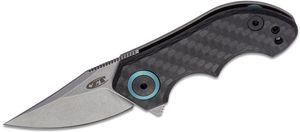 Zero Tolerance 0022 Tim Galyean Flipper Knife 1.8 inch CPM-20CV Stonewashed Blade, Carbon Fiber and Titanium Handles