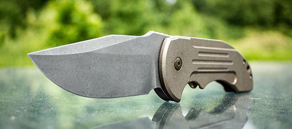 David Mosier Knives Customized Crossfire Mid-Tech Flipper 3.5