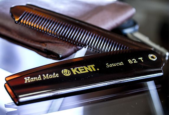 Kent Brushes 82T Handmade Men's Fine Toothed Folding Pocket Comb