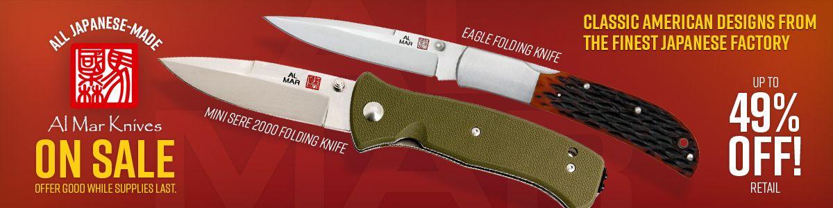 All Japanese Made Al Mar Knives On Sale!