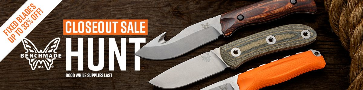 Shop for Benchmade Hunt Series Fixed Blade Closeouts